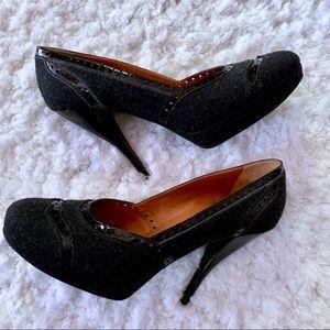 Lanvin Wool Oxford style heels size 39.5